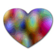 A Mix Of Colors In An Abstract Blend For A Background Heart Mousepads