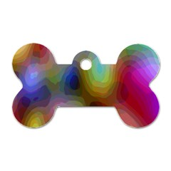 A Mix Of Colors In An Abstract Blend For A Background Dog Tag Bone (one Side)