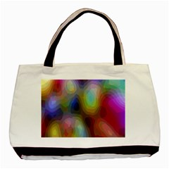 A Mix Of Colors In An Abstract Blend For A Background Basic Tote Bag (two Sides)