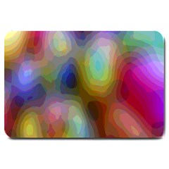 A Mix Of Colors In An Abstract Blend For A Background Large Doormat