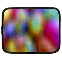 A Mix Of Colors In An Abstract Blend For A Background Netbook Case (large)