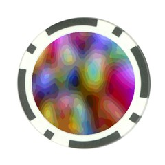 A Mix Of Colors In An Abstract Blend For A Background Poker Chip Card Guard (10 pack)
