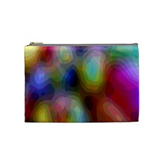 A Mix Of Colors In An Abstract Blend For A Background Cosmetic Bag (Medium)