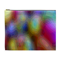 A Mix Of Colors In An Abstract Blend For A Background Cosmetic Bag (XL)
