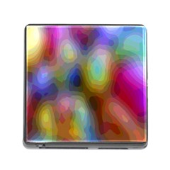 A Mix Of Colors In An Abstract Blend For A Background Memory Card Reader (square)