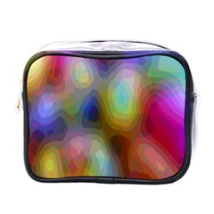 A Mix Of Colors In An Abstract Blend For A Background Mini Toiletries Bags