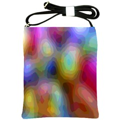 A Mix Of Colors In An Abstract Blend For A Background Shoulder Sling Bags
