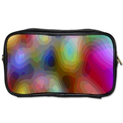 A Mix Of Colors In An Abstract Blend For A Background Toiletries Bags