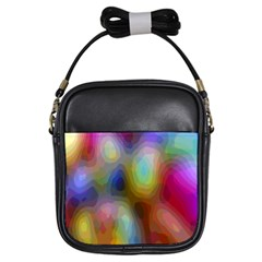 A Mix Of Colors In An Abstract Blend For A Background Girls Sling Bags