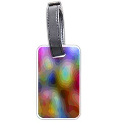 A Mix Of Colors In An Abstract Blend For A Background Luggage Tags (one Side)