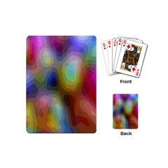 A Mix Of Colors In An Abstract Blend For A Background Playing Cards (mini)