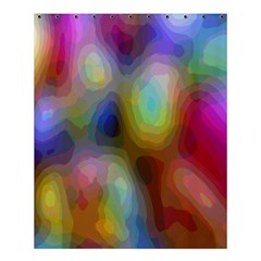 A Mix Of Colors In An Abstract Blend For A Background Shower Curtain 60  X 72  (medium)