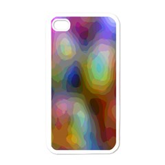 A Mix Of Colors In An Abstract Blend For A Background Apple Iphone 4 Case (white)