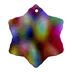 A Mix Of Colors In An Abstract Blend For A Background Snowflake Ornament (two Sides)
