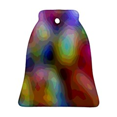 A Mix Of Colors In An Abstract Blend For A Background Bell Ornament (two Sides)