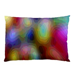 A Mix Of Colors In An Abstract Blend For A Background Pillow Case (two Sides)