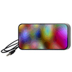 A Mix Of Colors In An Abstract Blend For A Background Portable Speaker (black)