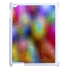 A Mix Of Colors In An Abstract Blend For A Background Apple Ipad 2 Case (white)