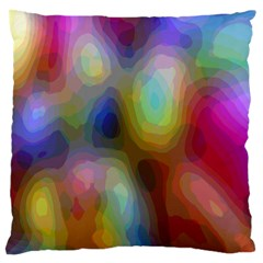 A Mix Of Colors In An Abstract Blend For A Background Large Cushion Case (two Sides)