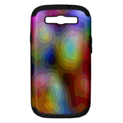 A Mix Of Colors In An Abstract Blend For A Background Samsung Galaxy S Iii Hardshell Case (pc+silicone)