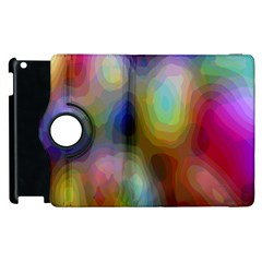 A Mix Of Colors In An Abstract Blend For A Background Apple Ipad 2 Flip 360 Case