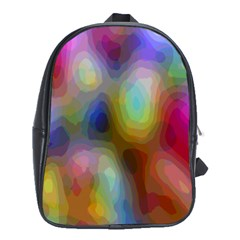 A Mix Of Colors In An Abstract Blend For A Background School Bags (xl)