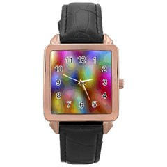 A Mix Of Colors In An Abstract Blend For A Background Rose Gold Leather Watch