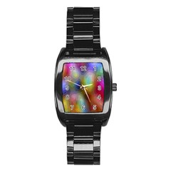 A Mix Of Colors In An Abstract Blend For A Background Stainless Steel Barrel Watch