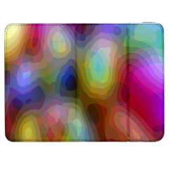 A Mix Of Colors In An Abstract Blend For A Background Samsung Galaxy Tab 7  P1000 Flip Case