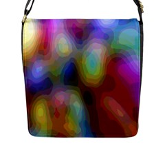A Mix Of Colors In An Abstract Blend For A Background Flap Messenger Bag (l)