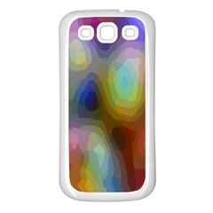 A Mix Of Colors In An Abstract Blend For A Background Samsung Galaxy S3 Back Case (white)