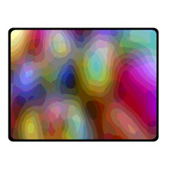 A Mix Of Colors In An Abstract Blend For A Background Double Sided Fleece Blanket (Small)