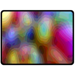 A Mix Of Colors In An Abstract Blend For A Background Double Sided Fleece Blanket (large)