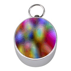 A Mix Of Colors In An Abstract Blend For A Background Mini Silver Compasses