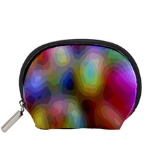 A Mix Of Colors In An Abstract Blend For A Background Accessory Pouches (small)