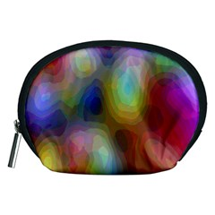 A Mix Of Colors In An Abstract Blend For A Background Accessory Pouches (medium)
