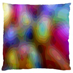 A Mix Of Colors In An Abstract Blend For A Background Large Flano Cushion Case (one Side)