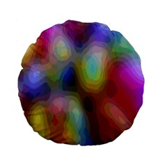 A Mix Of Colors In An Abstract Blend For A Background Standard 15  Premium Flano Round Cushions