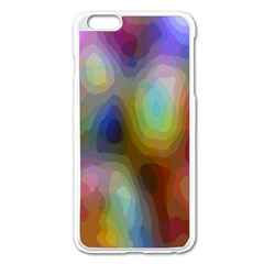 A Mix Of Colors In An Abstract Blend For A Background Apple Iphone 6 Plus/6s Plus Enamel White Case