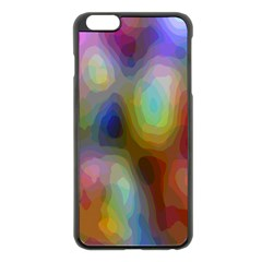 A Mix Of Colors In An Abstract Blend For A Background Apple Iphone 6 Plus/6s Plus Black Enamel Case