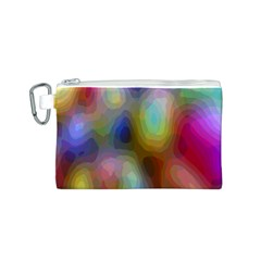 A Mix Of Colors In An Abstract Blend For A Background Canvas Cosmetic Bag (s)