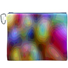 A Mix Of Colors In An Abstract Blend For A Background Canvas Cosmetic Bag (xxxl)