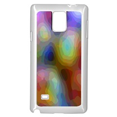 A Mix Of Colors In An Abstract Blend For A Background Samsung Galaxy Note 4 Case (White)