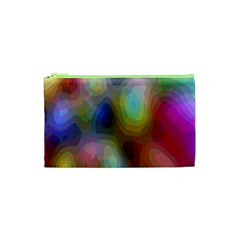 A Mix Of Colors In An Abstract Blend For A Background Cosmetic Bag (xs)