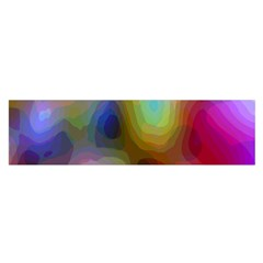 A Mix Of Colors In An Abstract Blend For A Background Satin Scarf (oblong)