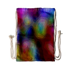 A Mix Of Colors In An Abstract Blend For A Background Drawstring Bag (Small)