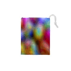 A Mix Of Colors In An Abstract Blend For A Background Drawstring Pouches (xs)