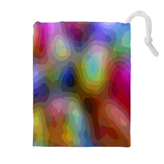 A Mix Of Colors In An Abstract Blend For A Background Drawstring Pouches (Extra Large)