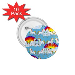 Rainbow pony  1.75  Buttons (10 pack)