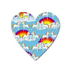 Rainbow pony  Heart Magnet